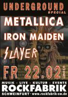 METALLICA-IRON MAIDEN-SLAYER SPECIAL IM UNDERGROUN...